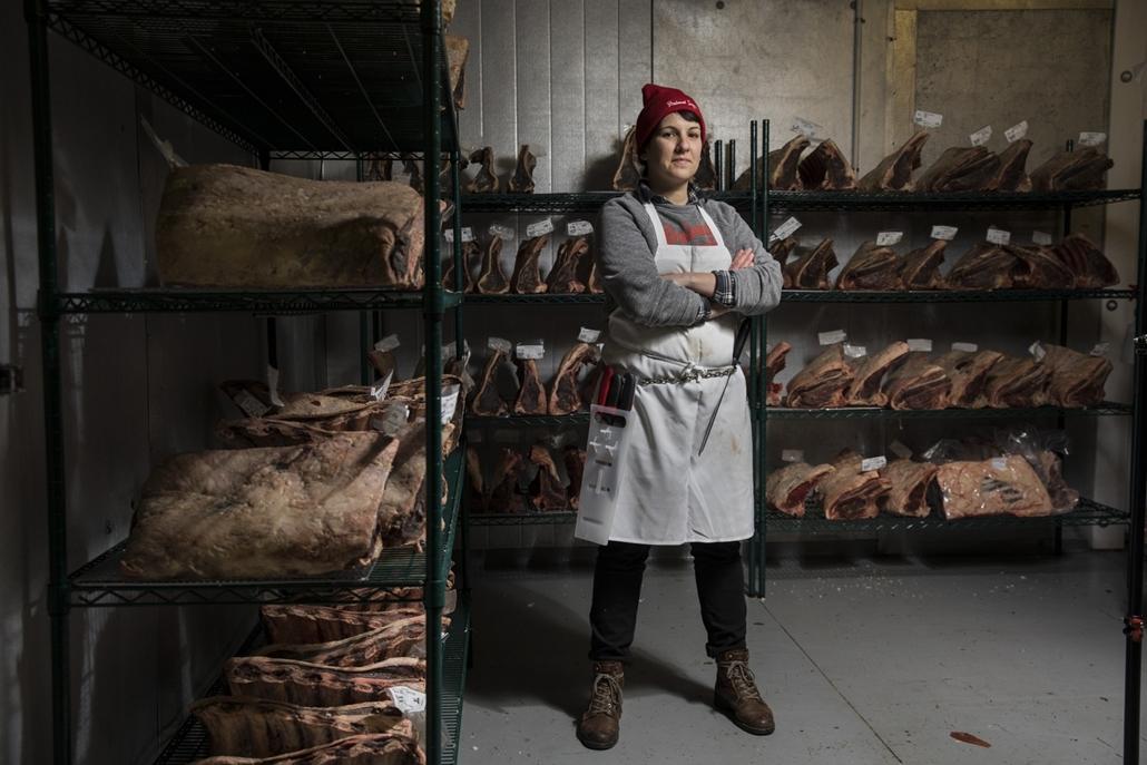 afp.18.02. - AFP nőnap - Heather Marold Thomason amerikai hentes és a Primal Supply Meats alapítója Lansdowneban Penszilvániában
