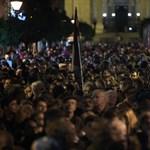A CEU mellett tüntettek a Nádor utcában