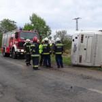 Buszbaleset Tótkomlósnál: Szegedre kellett vinni az egyik sérültet