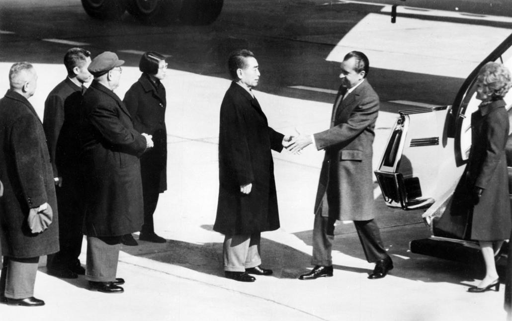 1972.02.27. - Nixon Kínában: Chou En-Lai miniszuterelnökkel - Nixonnagyitas