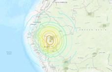 Nagy erejű földrengés volt Peruban - legalább egy ember meghalt, többen megsérültek