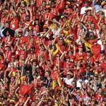 Brüsszelben már megy a belga-angol meccs