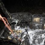 Így fest a hajnalban kiégett három busz - fotók