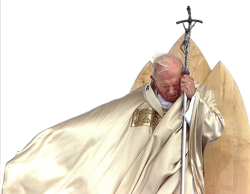 afp.99.09.19. - Maribor, Szlovénia: Anton Martin Slomšek, Maribor első püspökének boldoggá avatásának ünnepén - ,II. János Pál pápa