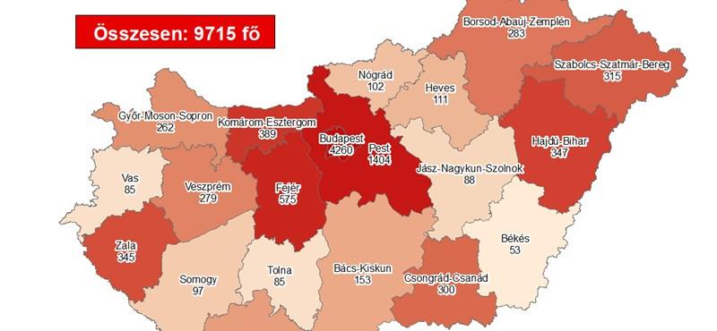 Elhunyt két beteg és 411 fővel nőtt a fertőzöttek száma