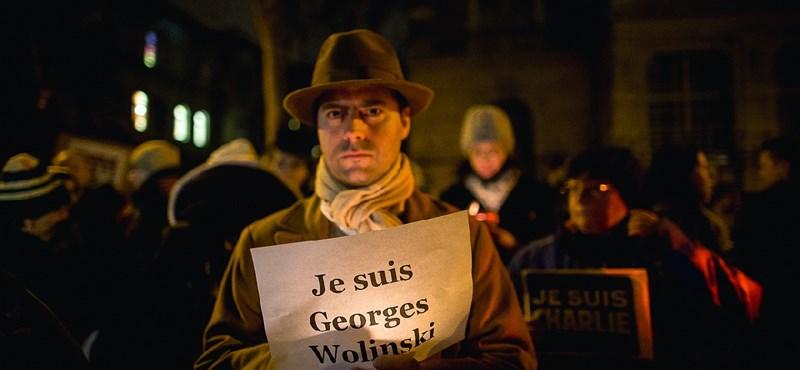 "Fotók: ""Je suis Charlie"" feliratokkal vonultak Budapesten"