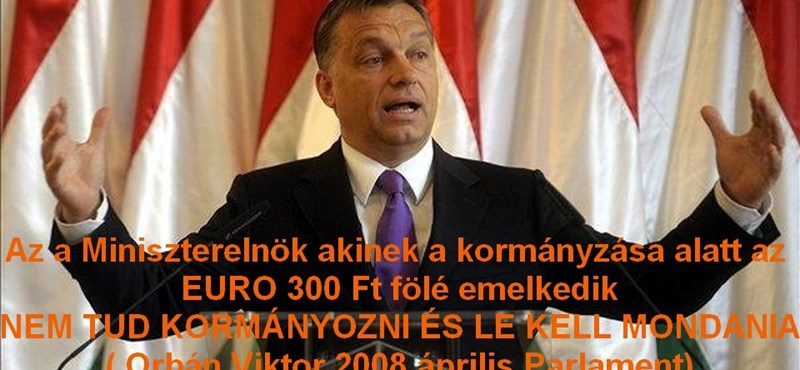 Átverés a 300 forint/eurós Orbán-idézet?
