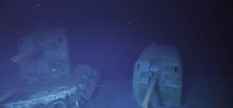 Felvételek készültek a világ legmélyebben fekvő hajóroncsáról – ön is megnézheti