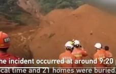 Földcsuszamlás után több halott Kínában