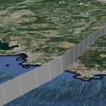 Itt látható a lezuhant Airbus útvonala 3D-ben