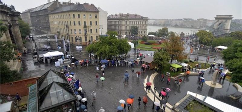 Pocsék idő van Budapesten - fotók