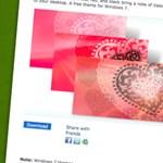 Valentin-napi Windows téma a Microsofttól
