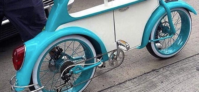 Kevés menőbb kétkerekű létezik, mint a VW Bogár bicikli