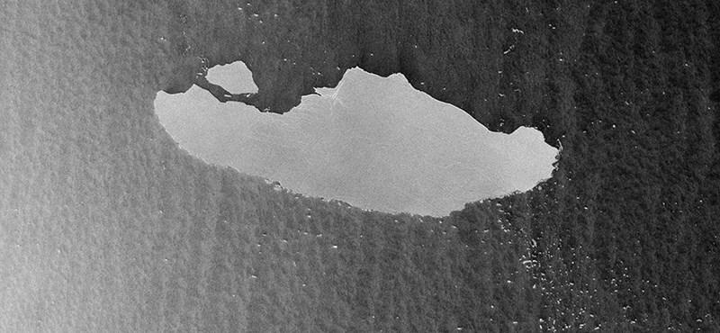 Töredezni kezdett az 5100 négyzetkilométeres antarktiszi A-68 jéghegy