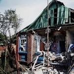 Fotó: Idős asszony házát rombolta le az ukrán tüzérség