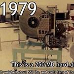 Döbbenetes kép: így változott meg a merevlemez 34 év alatt