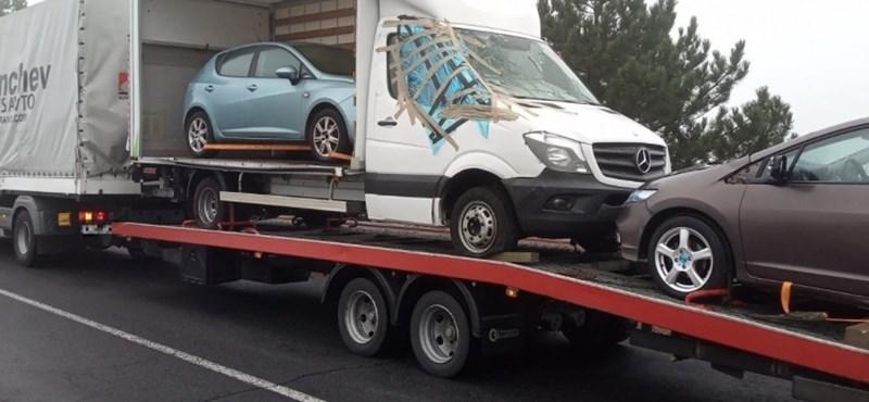 Jó lesz az úgy - gondolta a bolgár sofőr az M0-son