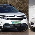 Francia-svéd hibrid párbaj: zöld rendszámos Citroënt és Volvót eresztettünk egymásnak