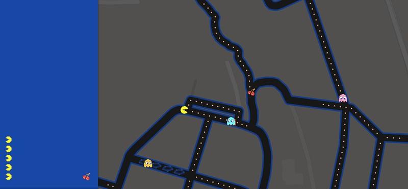 Zseniális: pár kattintás, és a saját utcájában játszhat Pac-Mant