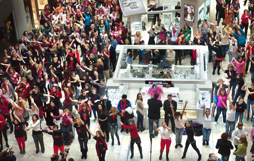 Egymilliárd nő ébredése rendezvény, One Billion Rising, Budapest, Magyarország, Mammut 2.
