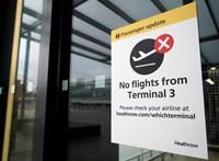 Hatórás sorok a Heathrow-n, volt, hogy a rendőröknek kellett rendet tenniük