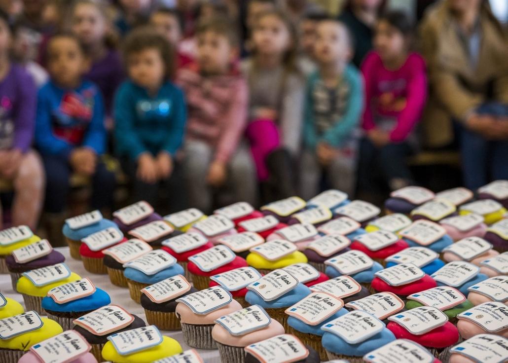 mti.17.03.02. - Nagyberény: Arany János verssoraival díszített sütemények a költő születésének 200. évfordulója alkalmából rendezett ünnepségen a nagyberényi Dr. Faust Miklós Általános Iskolában. - 7képei