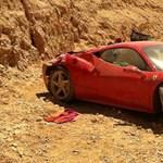 Ferrari 458 Italiát zúztak le Izraelben - fotók