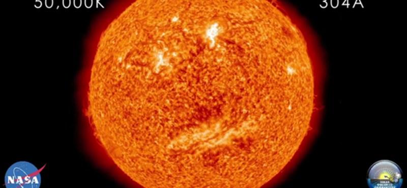 Videó: emberi arc formájú napfoltokat fotóztak le