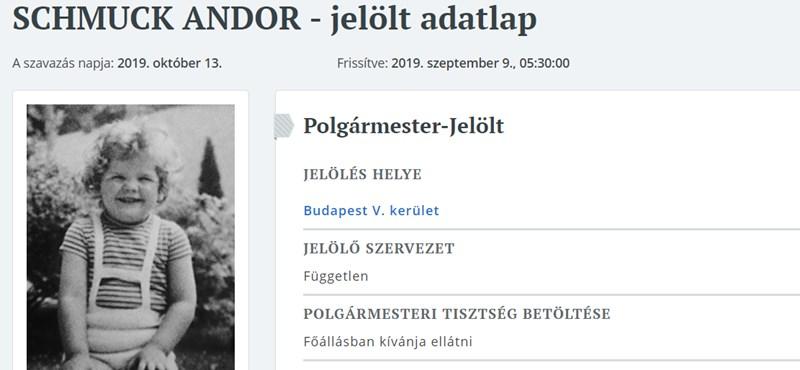 Schmuck Andor összekeverhette a Facebook-oldalát a választási adatlapjával