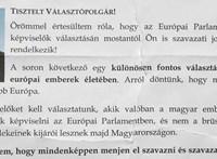 Ezzel az első szavazóknak küldött levéllel kampányol a Fidesz mellett Érd polgármestere
