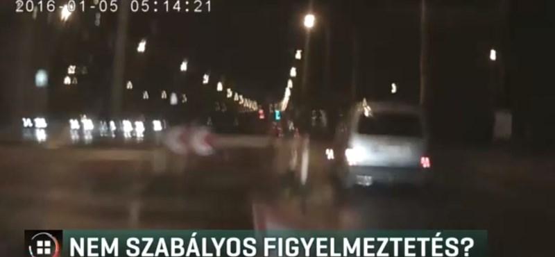 Nem látta a feltört aszfaltot, a táblát is elvitte egy autós a Soroksári úton – videó