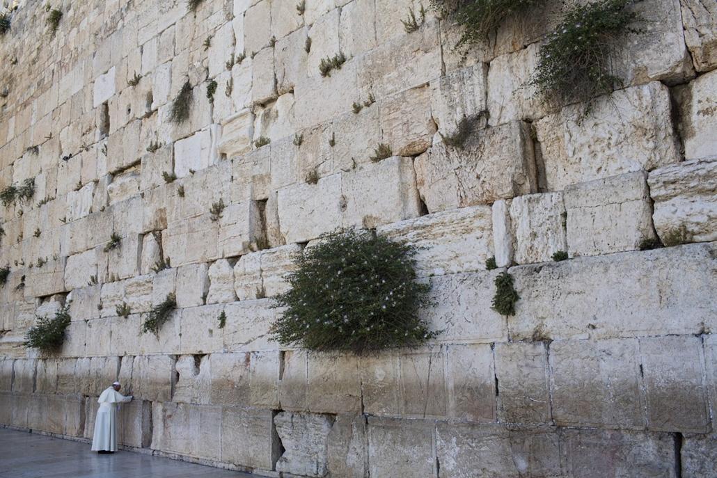 AP! Ferenc pápa Izraelben 2014.05.26. Jeruzsálem