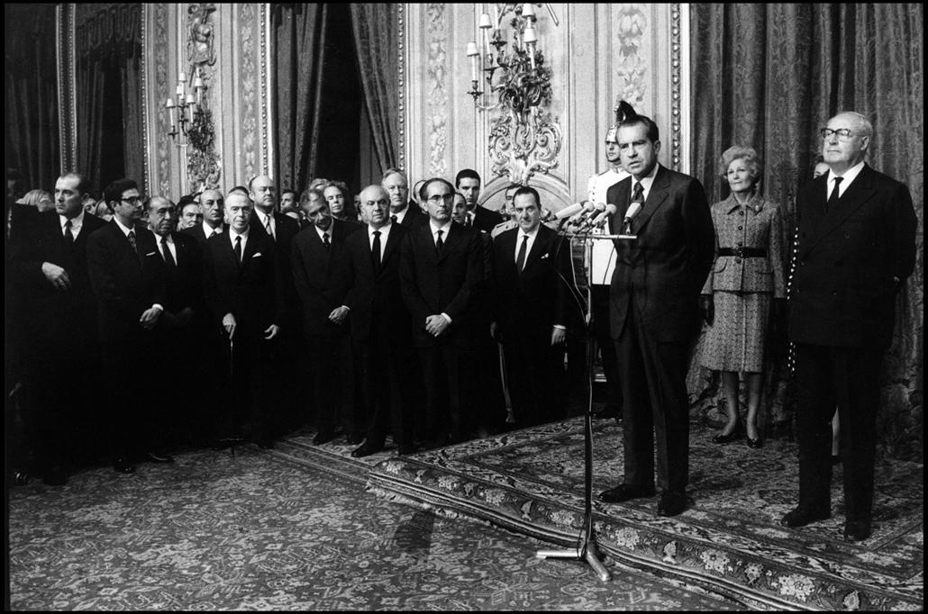 1970.09.04. - Róma, Quirinal Palace: Nixon beszédet mondott - olasz politikusok, többek közt Giuseppe Saragat köztársasági elnök és Emilio Colombo miniszterelnök jelenltében. - Nixonnagyitas