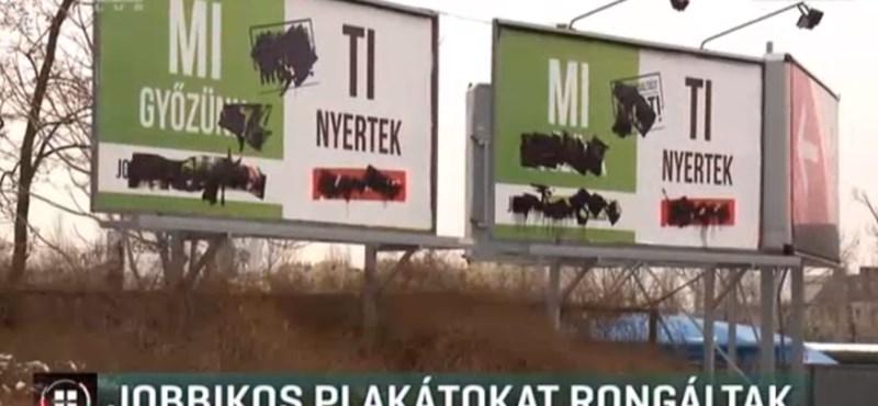 Máris megrongálták a Jobbik választási plakátjait