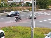 Brutális motorosbalesetről osztott meg egy felvételt a rendőrség - videó