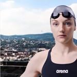 Óriás Katinkával reklámozzák a vizes vb-t - videó