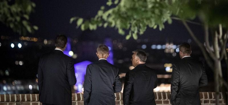 Orbán megmutatta a pesti panorámát régiós kollégáinak