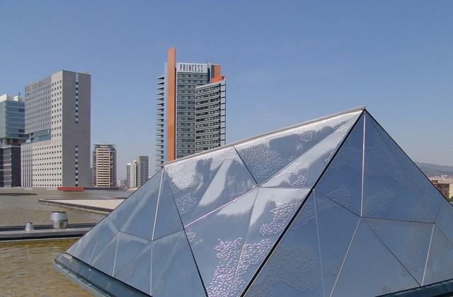 Barcelona - Kilátás a Princess Hotel tetjéről