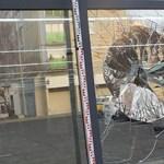 Benarkózott fiatalember őrjöngött Győrben, egy kirakat bánta – fotók