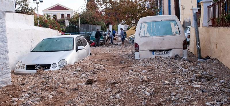Kőtenger, sártenger, földtenger: apokaliptikus fotók jöttek a görögországi vihar után