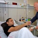 Hétfőn elengedik a kórházból a katapultáló Gripen-pilótát