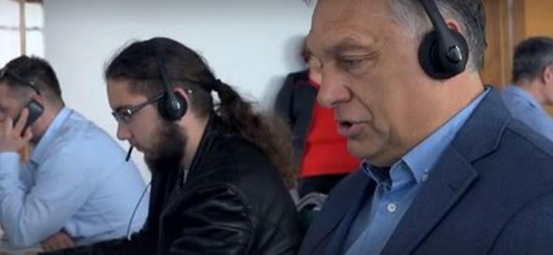 Orbán beállt kampány-telefonosnak is