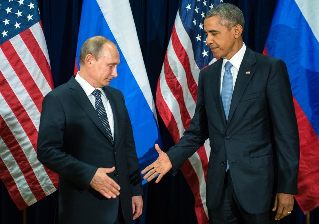 afp. 15.09.29. Barack Obama és Vladimir Putin találkozása 2015. szeptember 28-án.