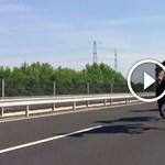 Lovak vágtáztak az M6-os autópályán – videó