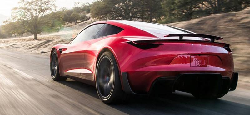 Ez még csak CGI, de ilyen abszurd módon gyors a Tesla Roadster II