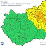 Ma is lecsaphat sokfelé a vihar – térkép a riasztásokról