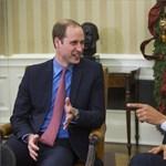 Fotó: Vilmos herceg Obamával nevetett nagyokat