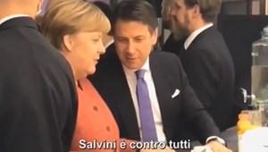 Merkel és Conte kibeszélték Salvinit, egy tévéstáb meg felvette