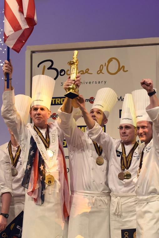 afp.17.01.25. - Lyon, Franciaország: a Bocuse d'Or eredményhirdetés - amerikai győzelem