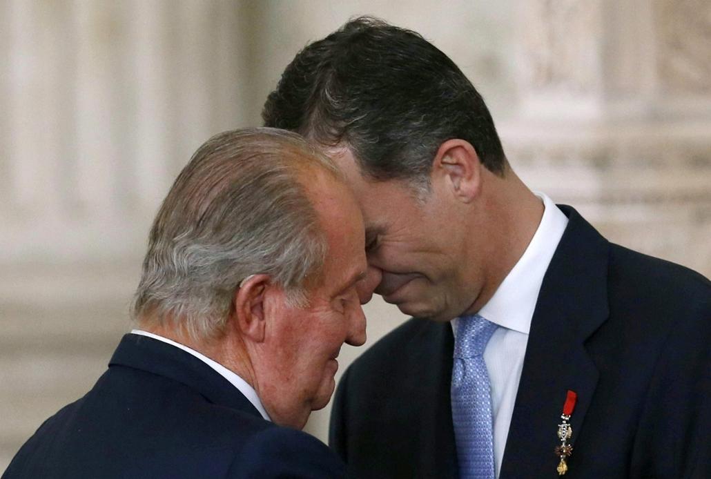 epa. a hét képei 0616-0621 - A király lemondása Spanyolországban 2014.06.18. Madrid